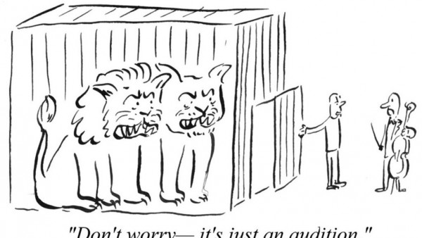 Pablo Helguera, Audition cartoon