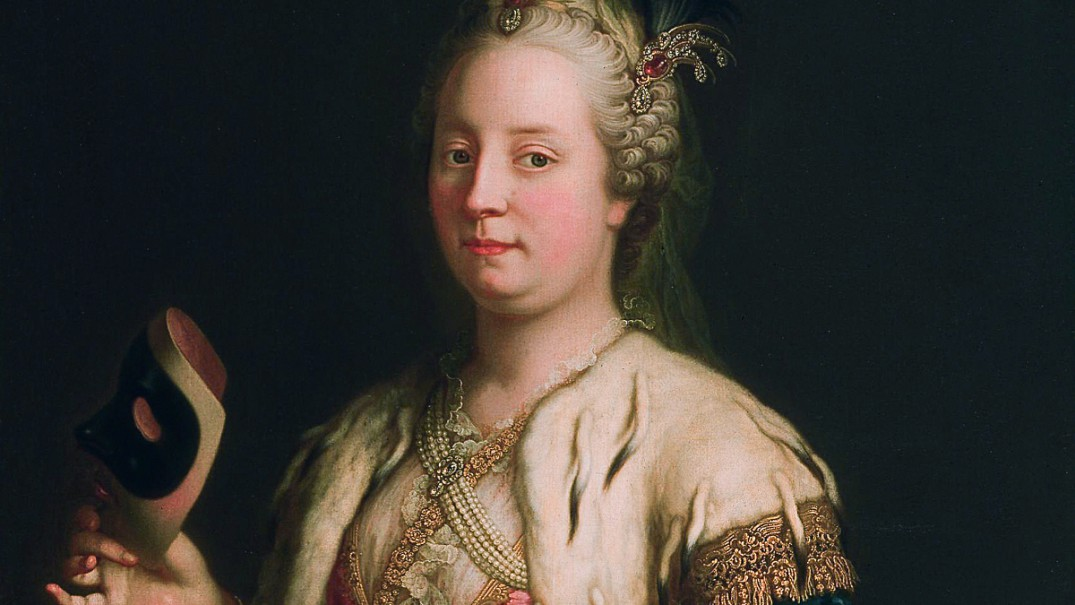 Maria Theresia in a costume and mask à la Turque *1744